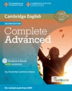 Complete Advanced Student S Book With Answers With Cd-rom With Testbank