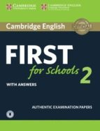 Cambridge English: First For Schools 2 Student S Book With Answers & Audio